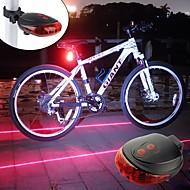 hesapli -Bisiklet Işıkları LED LED Bisiklet Portatif Hafif Şarj Edilebilir Pil 300lm Lümen Piller Powered Mavi Kırmızı Bisiklete biniciliği