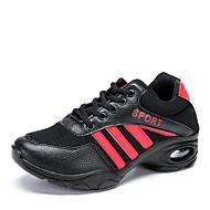 baratos Sapatilhas de Dança-Mulheres Tênis de Dança Tule Têni Salto Baixo Personalizável Sapatos de Dança Preto e Dourado / Preto / Vermelho / Ensaio / Prática