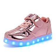 tanie Obuwie chłopięce-Dla chłopców / Dla dziewczynek Obuwie PU Wiosna Świecące buty Adidasy LED na Dla dzieci Złoty / Srebrny / Różowy