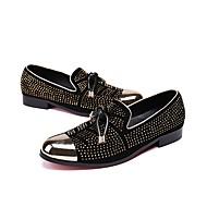 baratos Sapatos Masculinos-Homens Sapatos formais Pele Nobuck Primavera / Outono Oxfords Caminhada Preto / Sapatas de novidade