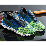 baratos Sapatos Masculinos-Homens Tule Primavera / Outono Conforto Tênis Corrida Cinzento / Azul Claro / Azul Real