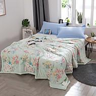 billige Hjemmetekstiler-Komfortabel 1stk Sengetæppe, Håndlavet Reaktivt Trykk Blomstret Sommer