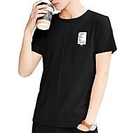 Herre - Ensfarvet Trykt mønster Aktiv Gade T-shirt