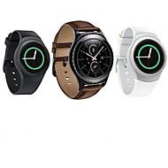 billiga Smart klocka Tillbehör-Klockarmband för Gear S2 Classic Samsung Galaxy Läderloop Läder Handledsrem