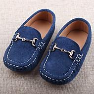 baratos Sapatos de Menina-Para Meninos / Para Meninas Sapatos Pele Primavera / Verão Mocassim Mocassins e Slip-Ons para Crianças Preto / Azul Escuro / Camel / TR
