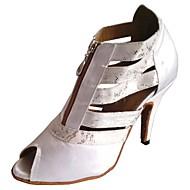 baratos Sapatilhas de Dança-Mulheres Sapatos de Dança Latina / Sapatos de Salsa Cetim Salto Salto Personalizado Personalizável Sapatos de Dança Branco / Preto / Vermelho / Interior