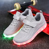 tanie Obuwie chłopięce-Dla dziewczynek Dla chłopców Buty Dzianina Siateczka Wiosna Jesień Świecące buty Comfort Tenisówki Spacery LED Haczyk i pętelka Szurowane