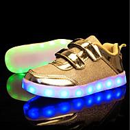 tanie Obuwie chłopięce-Dla chłopców / Dla dziewczynek Obuwie Siateczka / Tiul Lato Lekkie podeszwy / Świecące buty Tenisówki LED na Złoty / Srebrny / Różowy