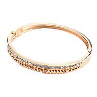 Dame Kvadratisk Zirconium Armbånd - Zirkonium Sød, Mode Armbånd Guld / Sort / Sølv Til Daglig I-byen-tøj