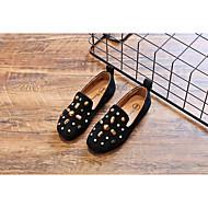 tanie Obuwie chłopięce-Dla dziewczynek Dla chłopców Buty Nubuk Wiosna Jesień Mokasyny Comfort Mokasyny i pantofle na Casual Black Brown Różowy