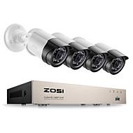 billige DVR-Sett-zosi® 4ch sikkerhetssystem cctv dvr sikkerhetssystem 4ch 1tb 4 x 1080p sikkerhet kamera 2.0mp kamera diy sett
