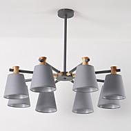 billiga Belysning-JLYLITE 8-Light Ljuskronor Fluorescerande Målad Finishes Metall Tyg Ministil 110-120V / 220-240V Glödlampa inte inkluderad / FCC / VDE / E26 / E27