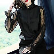Dame-Ensfarvet Sødt Basale Bluse