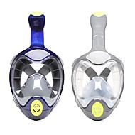 ダイビングマスク / シュノーケルマスク 曇り止め, フルフェイスマスク, 水中 シングルウィンドウ - 潜水, シュノーケリング PC, シリカゲル - ために 大人 グレー / ブルー