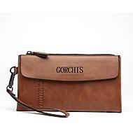 baratos Clutches & Bolsas de Noite-Homens Bolsas PU Leather Bolsa de Mão Botões / Ziper Khaki