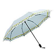 baratos Mais Populares-boy® Tecido Todos Ensolarado e chuvoso / Prova-de-Vento / novo Guarda-Chuva Dobrável