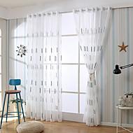 billige Gjennomsiktige gardiner-Gardiner Skygge Stue Stribe Bomull / Polyester Mønstret