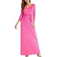 Žene Vintage Slatko Swing kroj Haljina Jednobojni Maxi