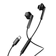 billiga Headsets och hörlurar-C16 Typ-c Hörlurar Piezoelektricitet Plast Mobiltelefon Hörlur Med volymkontroll headset