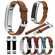 billiga Smart klocka Tillbehör-Klockarmband för Fitbit Alta Fitbit Klassiskt spänne Äkta Läder Handledsrem
