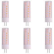 baratos Luzes LED de Dois Pinos-6pcs 3W 200-230lm G4 Luminárias de LED  Duplo-Pin T 36 Contas LED SMD 2835 Flickering da chama Mudança 12V
