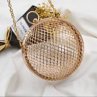 baratos Clutches & Bolsas de Noite-Mulheres Bolsas Metal Bolsa de Festa Vazados Dourado