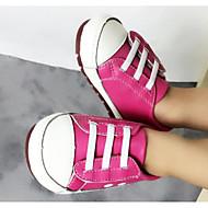 baratos Sapatos de Menino-Para Meninos / Para Meninas Sapatos Pele Primavera Conforto Tênis para Preto / Fúcsia