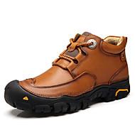 tanie Obuwie męskie-Męskie Buty Nappa Leather Wiosna Jesień Comfort Buciki na Casual Na wolnym powietrzu Black Brown