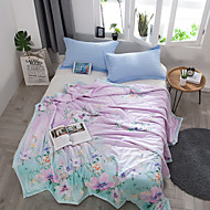 billige Hjemmetekstiler-Komfortabel 1stk Sengetæppe 1stk dyne, Håndlavet Reaktivt Trykk Blomstret Sommer