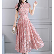 Mulheres Básico balanço Vestido - Renda, Floral Médio