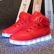 baratos Sapatos de Menina-Para Meninos / Para Meninas Sapatos Couro Ecológico Verão / Outono Tênis com LED Tênis LED para Crianças Preto / Prata / Vermelho