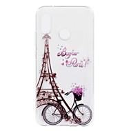 Etui Til Huawei P20 lite P8 Lite (2017) Transparent Mønster Bagcover Eiffeltårnet Blødt TPU for Huawei P20 lite Huawei P20 Pro Huawei P20