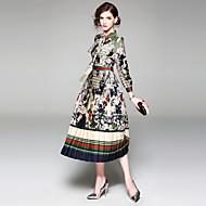 Žene Ulični šik Korice Haljina - Print, Cvjetni print Midi