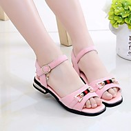 baratos Sapatos de Menina-Para Meninas Sapatos Pele Nobuck Verão Conforto Sandálias para Preto / Bege / Rosa claro