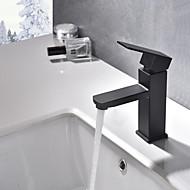 お買い得  浴室洗面ボウル用蛇口-バスルームのシンクの蛇口 - 組み合わせ式 ペインティング センターセット シングルハンドルつの穴