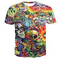 Χαμηλού Κόστους -Ανδρικά T-shirt Κρανίο Βασικό Γεωμετρικό Συνδυασμός Χρωμάτων Νεκροκεφαλές Στάμπα