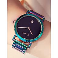billige Quartz-Dame Armbåndsur Japansk Kronograf / Vandafvisende / Stor urskive Rustfrit stål Bånd Minimalistisk / Farverig Jadegrøn