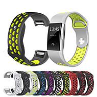 billiga Smart klocka Tillbehör-Klockarmband för Fitbit Charge 2 Fitbit Sportband Silikon Handledsrem