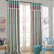 billige Gardiner ogdraperinger-gardiner gardiner Stue Stribe Moderne Bomull / Polyester Trykket