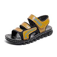 tanie Obuwie chłopięce-Dla chłopców Buty PU Tiul Lato Comfort Sandały Tasiemka na Casual Na wolnym powietrzu Black Dark Blue Yellow