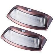 billige Utendørs Lampeskjermer-2pcs 3W Wall Light Solar Infrarød sensor Utendørsbelysning Varm hvit Kjølig hvit 5.5V
