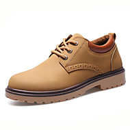 Shoes Men's Shoes Nubuck Leather Fall Spring Comfort Formal Shoes Oxfords Lace-up For Wedding Casual Party & Evening Office & Career (Color : D Size : 42)