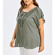 Majica s rukavima Žene-Ulični šik Dnevno Jednobojni