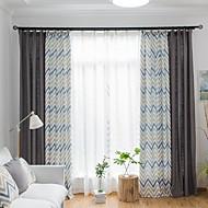 billige Gardiner ogdraperinger-gardiner gardiner Stue Stribe Bomull / Polyester Trykket