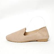 baratos Sapatos Femininos-Mulheres Sapatos Couro Ecológico Verão Conforto Rasos Salto Baixo Dedo Apontado Combinação Amarelo / Vermelho / Khaki
