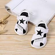 tanie Obuwie dziewczęce-Dla dziewczynek Dla chłopców Buty Skórzany Lato Buty do nauki chodzenia Comfort Sandały na Casual White Black