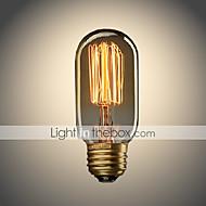 baratos Incandescente-UMEI™ 1pç 40W E26/E27 T45 Branco Quente 2300 K Incandescente Vintage Edison Light Bulb AC 110-130V AC 220-240V V