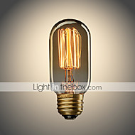 billige Glødelampe-umei ™ 1pc 40w e26 / e27 t45 edsion pære varm hvit 2300 k glødende vintage edison pære ac 110-130v ac 220-240v
