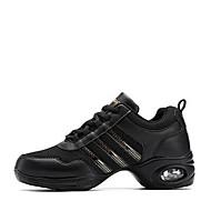 baratos Sapatilhas de Dança-Mulheres Tênis de Dança Micofibra Sintética PU / Malha Respirável Têni Salto Baixo Personalizável Sapatos de Dança Branco / Preto e