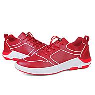 baratos Sapatos Masculinos-Homens Pele Napa / Couro Ecológico Outono Conforto Tênis Caminhada Preto / Vermelho / Azul